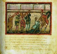 Vergilius Vaticanus, Vatican Library, Cod. Vat. lat. 3225. Folio 22 recto	About 400. One of the oldest and best preserved extant manuscripts of Virgil. This miniature shows the flight of Aeneas from Troy.It is one of the oldest surviving sources for the text of the Aeneid and is the oldest and one of only three illustrated manuscripts of classical literature. The two other surviving illustrated manuscripts of classical literature are the Vergilius Romanus and the Ambrosian Iliad.