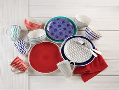 The various colors and patterns of Simpatico Dinnerware by Euro Ceramica make for a fun and exciting range of possible combinations. Don't be reserved, make YOUR table as unique as you! Possible Combinations, Salad Plates, Dinner Plates, Ecommerce, Dinnerware, Euro, Range, Make It Yourself, Patterns