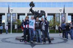 The boys at Blizzard HQ --- Aaaand Duncan is wearing a Cap hoodie! <3