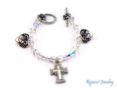 """Beth""   This sweet 7 1/4"" bracelet would make a wonderful gift of appreciation. $34 www.rejoicejewelry.com"
