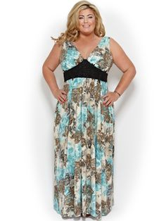 Florida Style Designer Clothing In Plus Sizes Maxi Dress PlusSize