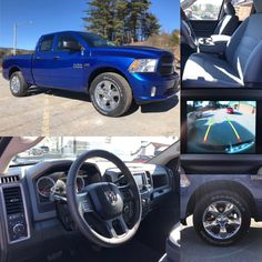 2018 'Blue Streak Pearl' Ram 1500 Express 4x4 Quad Cab.  BLUETOOTH. BACKUP CAM. REMOTE ENTRY. Stock 18129. Click pic for more info.