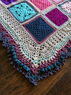 Free Crochet Pattern: Blanket Border - Vibrant Vintage Blanket (VVCAL) - cypress|textiles