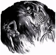 Virgil Finlay, Black Moon (Jules de Grandin) by Seabury Quinn, Weird Tales 38-10.