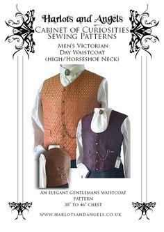 Victorian Steampunk Waistcoat Vest Pattern. by Harlotsandangels, $17.50