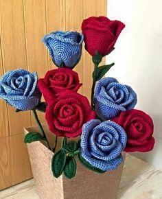 Crochet Flower Tutorial, Crochet Flower Patterns, Crochet Blanket Patterns, Crochet Ripple, Crochet Motif, Knit Crochet, Hobbies And Crafts, Diy And Crafts, Knitted Flowers