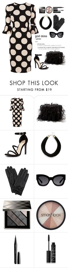 """Bell-Sleeve Dress Contest, #bellsleevedress"" by juliehalloran ❤ liked on Polyvore featuring Coast, Dsquared2, Mollini, Topshop, Karen Walker, Burberry, Smashbox, Marc Jacobs, NARS Cosmetics and proudtobeajw"
