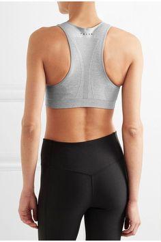 FALKE Ergonomic Sport System - Madison Stretch-jersey Sports Bra - Stone - small