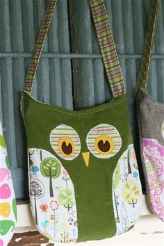 Owl Bags..Courtney!!!! You have got to make me one just to have!!!! It's so cute!!!!!!