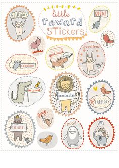 little cube stickers and stamps to decorate your parcels, letters, or wrapping paper.