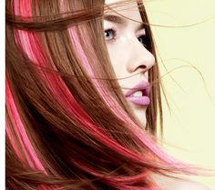 pink highlights (rachel!)