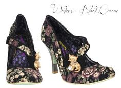 Irregular Choice New Ladies Vintage Retro Kitsch 1950s Style Heels Shoes - Clearance