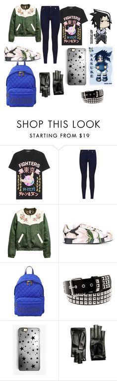 """sasuke uchiha"" by levatzy-pandita ❤ liked on Polyvore featuring Dsquared2, 7 For All Mankind, Dolce&Gabbana, Moschino, Rianna Phillips and Gucci"
