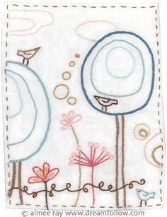 Happy Garden Embroidery Pattern PDF by littledear on Etsy, $4,00