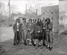 Girls' rifle team of Drexel Institute, Washington, D.C., ca 1925. National Photo Company Collection glass negative.