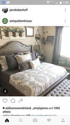 Gray Bedroom Rustic