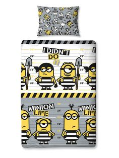 Despicable Me 3 Jailbird Single Duvet Cover Set Polyester £12.95 Free UK Delivery