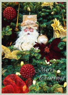 Tis The Season - Seasonal Art by Jordan Blackstone Fine Art Prints and Posters for Sale #jordanblackstone #christmas #santaclaus