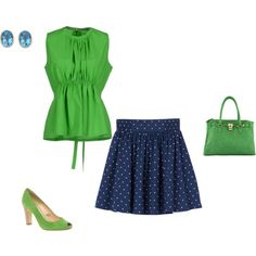 """Clear Spring - blue/green"" by adriana-cizikova on Polyvore"