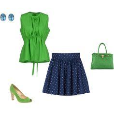 """Clear Spring - blue/green"" by adriana-cizikova on Polyvore"