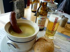 Soup with sausage -Schilthorn style