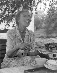 Grand Dutchess Olga(sister of the Tsar) in her garden on St. Olga's Day July 13 (24) 1958 ---- two years before her death.