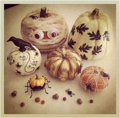 No Carve Halloween Pumpkins – Ideas for Decorating Pumpkins Quickly without Carving