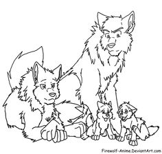 Cute Anime Arctic Wolf Pups Drawings | Had I Been A Wolf...