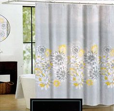 Yellow Curtains French Country Patchwork Shower Curtain