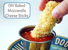 Baked Mozzarella Cheese Sticks Recipe - The Gunny Sack