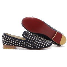 Christian Louboutin  Rolling Spikes Loafers Blue123 being unfaithful limited offer,no taxes and free shipping.#shoes #womenstyle #heels #womenheels #womenshoes  #fashionheels #redheels #louboutin #louboutinheels #christanlouboutinshoes #louboutinworld
