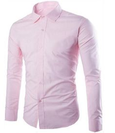 Men's Shirts New Fashion Brand Men Shirt 11 colorsDress Shirt Long Sleeve Slim Fit Camisa Masculina Casual Male Shirts Model White 3XL 1