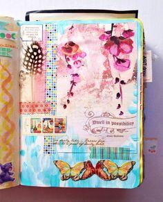 Get messy    art journal by Olya Schmidt.