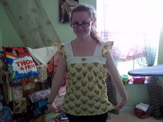 This is the Spring Ruffle Top from Sew, Mama, Sew Tutorial... I had fun making it!