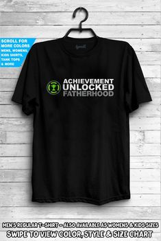 13e5954c Achievement Unlocked Fatherhood Shirt New baby Surprise Tee Announcement  Pregnant New Dad Gift Daddy America City