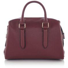 Linea Winnie Bowler (97 NZD) ❤ liked on Polyvore featuring bags, handbags, bags & luggage handbags, bowler handbag, purple bags, hand bags, zip purse and bowler purse