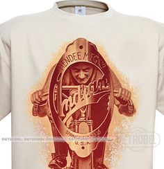 Motorcycle Indian T-Shirt 100% CottonMotorcycle by retrobel1