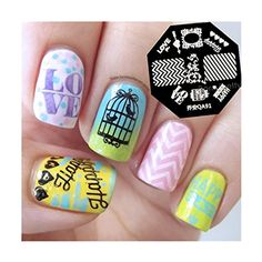BORN PRETTY Nail Art Stamping Image Plate Zebra Stripes Love Pattern QA91 >>> More info could be found at the image url. Note:It is Affiliate Link to Amazon.