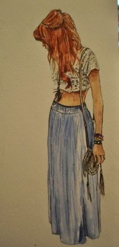 t-shirt, skirt, blue, crop top, top, tshirt, flowers, white, creame, cream, flowery, denim, pretty, indie, hippie, hipster, nice, cute - Wheretoget