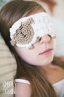 Counting Sheep Sleep Mask crochet pattern featured in the May 2015 issue of The Pattern Pack. - Will also be available for individual purchase in August.