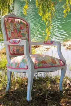 Amazing chair in Sis Boom's newest fabric line, Nostalgia, ships November 2015.