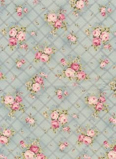 Fabric that's vintage shabby Shabby Chic Paper, Shabby Chic Pink, Vintage Shabby Chic, Vintage Flowers, Papel Vintage, Vintage Diy, Vintage Paper, Vintage Images, French Vintage