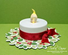 Stamp A Little Longer: Stampin' Addicts Winter Holiday Blog Hop - Cute idea for centerpieces.