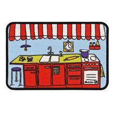 Marchande - Tapis de cuisine Edie | Tapis de cuisine Derrière la porte - Filf