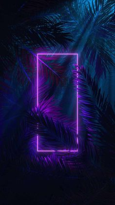 Neon Square In Nature - IPhone Wallpapers