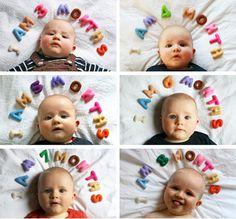 Creative newborn photos