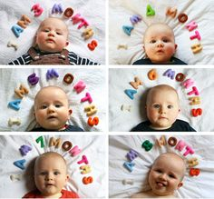 Another cute pic idea for marking how old your baby is in the first year