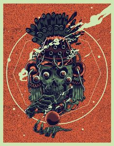 Skull 482 © smitheone - Que inicie el juego . Online Exhibition - Each One Street Art, Expressive Art, Art Et Illustration, Skull And Bones, Art Direction, Illustrations Posters, Fantasy Art, Dark Fantasy, Illustrators