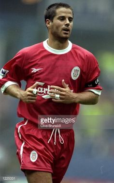 Jamie Redknapp of Liverpool in action during the FA Carling Premiership match against Sheffield Wednesday played at Hillsborough in Sheffield England The match finished in a 21 win to Liverpool...