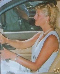 DIana driving away